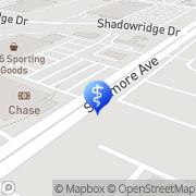 Map Demlinger, Glenn, Od - Shadowridge Family Vision Ctr Vista, United States