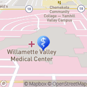 Map Willamette Valley Medical Center McMinnville, United States