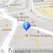 Map Goatman and Batham Optometrist & Contact Lense Practitioners Bristol, United Kingdom