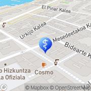 Map Podologo Juan Manuel Báez Gutiérrez Areeta, Spain