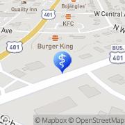Map Donald R. Johnson, Jr., DDS PA Raeford, United States