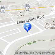 Map Pittsburgh East Health Center Monroeville, United States