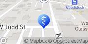 Map Northwestern Medicine Rehabilitation Services Woodstock Square Woodstock, United States