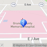 Map UnityPoint Health - Grundy County Memorial Hospital Grundy Center, United States