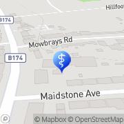 Map Romford Grange Care Home Romford, United Kingdom