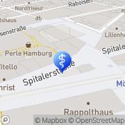Karte Rossmann Drogeriemärkte Hamburg, Deutschland