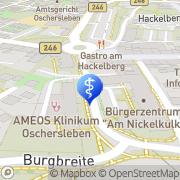 Karte AMEOS Klinikum Oschersleben Oschersleben (Bode), Deutschland