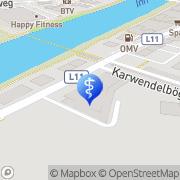 Karte Unfallpraxis Medicent Innsbruck Innsbruck, Österreich