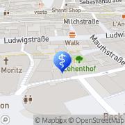 Karte Praxis Dr. med. Helming und Dr. med. Singer Ingolstadt, Deutschland