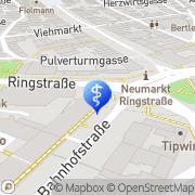 Karte Zahnarztpraxis Markkus Moosburger Neumarkt i.d.OPf., Deutschland