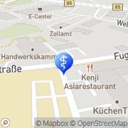 Karte Wiesgickl Physiotherapie in Gärbershof Amberg, Deutschland