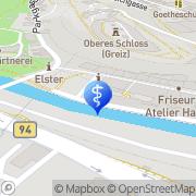 Karte Podologie Scharfenberg Greiz, Deutschland