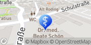 Karte Frau Dr.med. Beate Schön Roding, Deutschland