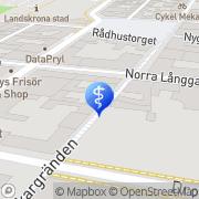 Karta Tandläkaregården Landskrona, Sverige