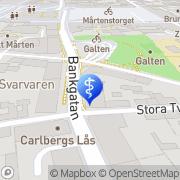 Karta Heidi´s Massage & Fotvård Lund, Sverige