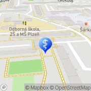 Map MUDr. Alexandra Pěchoučková Pilsen, Czech Republic