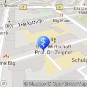 Karte Zahnarztpraxis Cendelin Dresden, Deutschland