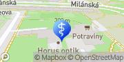 Map MUDr. Trubanová RTG s.r.o. Prague, Czech Republic