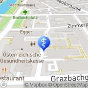 Karte Ambulatorium für Hals- Nasen- u Ohrenkrankheiten d Stmk Gebietskrankenkasse Graz, Österreich