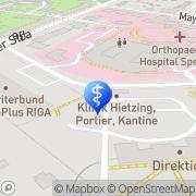 Karte Österreichische Gesellschaft f Akupunktur -KH Hietzing m Neurologischem Zentrum Rosenhügel Wien, Österreich