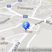 Karte Hauer Dr. Glaser Dr. Fachärzte f. Innere Medizin OG Traiskirchen, Österreich