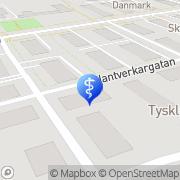 Karta Mats Tillberg Psykologpraktik Gävle, Sverige