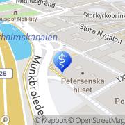 Karta Läkarmottagningen Munkbron AB Stockholm, Sverige
