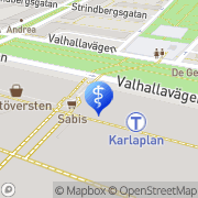 Karta Folktandvården Karlaplan Stockholm, Sverige