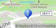 Map Oční optika – Kudláková Alena Rožnov pod Radhoštěm, Czech Republic