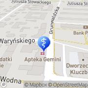 Mapa Derkowska Jagoda. Poradnia Kluczbork, Polska