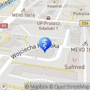 Mapa Czerwińska Dorota. Stomatologia Pruszcz Gdański, Polska