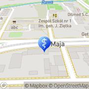 Mapa Widala Ewa, dr nauk med. Katowice, Polska
