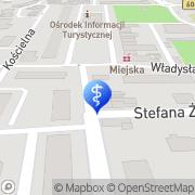 Mapa Zagożdżon Alicja, lek. stomatolog Nidzica, Polska