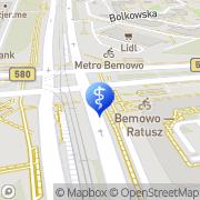 Mapa Delegatura Biura Bezpieczeństwa i Zarządzania Kryzysowego Dzielnicy Bemowo m.st. Warszawy Warszawa, Polska