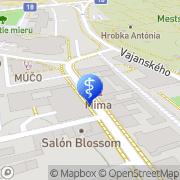 Map DUCÁROVÁ IVANA, MUDr. Prešov, Slovakia