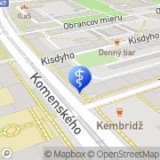 Map MEDICTRADE Košice, Slovakia