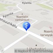 Kartta Naantalin kaupunki Naantalin vanhainkoti Naantali, Suomi