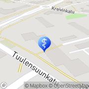 Kartta Naantalin Yksityislääkärit Hammaslääkäri Anne Linja Naantali, Suomi