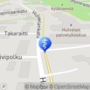 Kartta Raision kaupunki Hulvelan palvelutalon Ruskakoti Raisio, Suomi