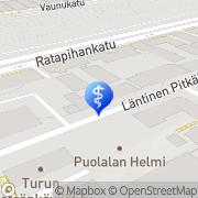 Kartta Valiofysio Turku, Suomi