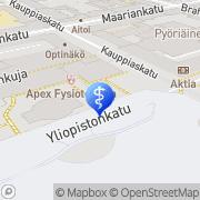Kartta Varrela Tiina Tohtoritalon Hammasklinikka Dentori Turku, Suomi