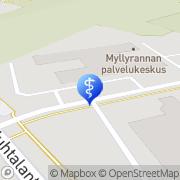 Kartta Seinäjoen kaupunki Myllyrannan palvelukeskus Seinäjoki, Suomi