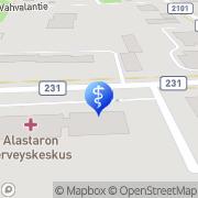 Kartta Loimaan kaupunki Alastaron terveyskeskussairaalan hoito-osasto Alastaro, Suomi