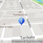 Kartta PlusTerveys Hammasklinikka Rytivaara Kokkola, Suomi