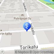 Kartta Fysikaalinen Hoitolaitos Jaakko Kerola Kokkola, Suomi