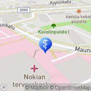 Kartta Nokian kaupunki terveyskeskus Nokia, Suomi