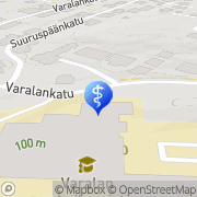 Kartta Kauneuspiste Valore Tampere, Suomi