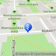 Kartta Päivi Pylvänäinen-Psykologipalveluja tanssiterapian keinoin Tampere, Suomi