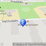 Kartta Fysikaalinen Hoitolaitos Pyynikin Lääkintävoimistelu Tampere, Suomi