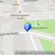 Kartta Fysikalinen hoitolaitos Fysioavain Tampere, Suomi